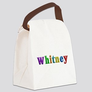 Whitney Shiny Colors Canvas Lunch Bag