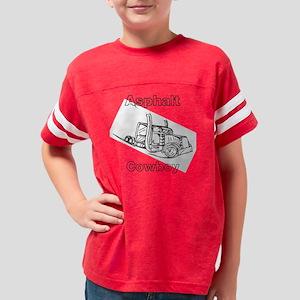 Asphalt Cowboy Trucker Tank T Youth Football Shirt