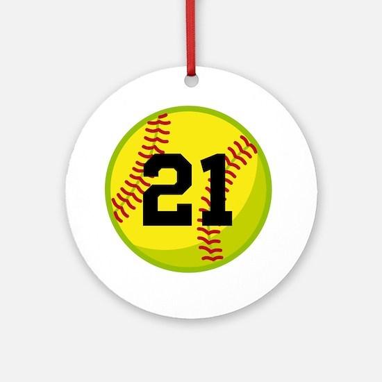 Softball Sports Personalized Ornament (Round)