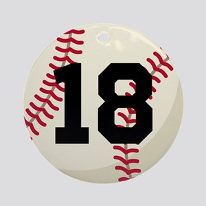 Baseball Sports Personalized Ornament (Round)