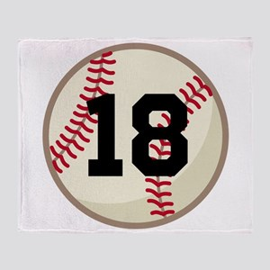 Baseball Sports Personalized Throw Blanket
