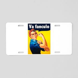 Va Fanculo Aluminum License Plate