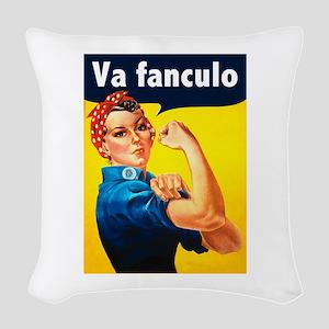 Va Fanculo Woven Throw Pillow