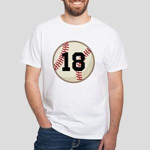Baseball Sports Personalized White T-Shirt