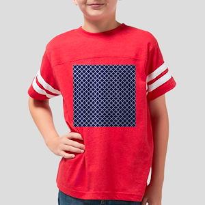 Navy Blue Quatrefoil Pattern Youth Football Shirt