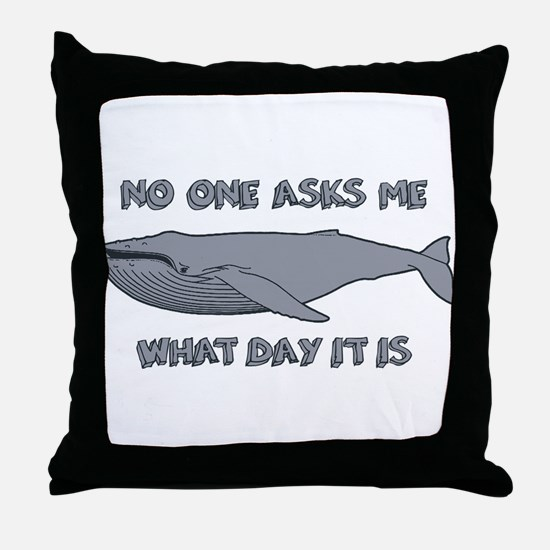 Sad Hump Day Humpback Throw Pillow