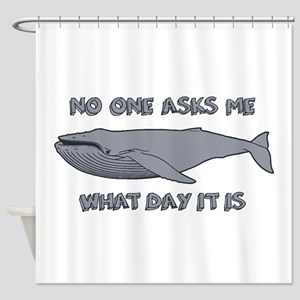 Sad Hump Day Humpback Shower Curtain