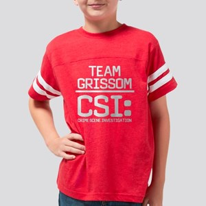 CSI Team Grissom White Youth Football Shirt