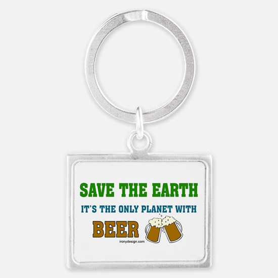 Save The Beer Landscape Keychain