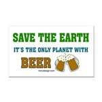 Save The Beer Rectangle Car Magnet