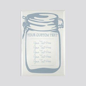 Custom Text Canning Jar Graphic Magnets