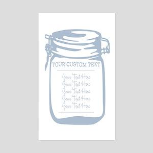 Custom Text Canning Jar Graphic Sticker