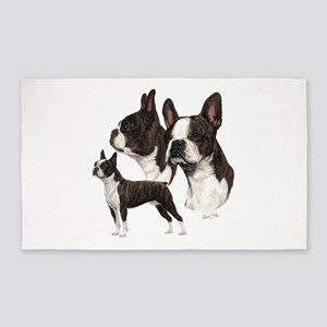 Boston Terrier 3'x5' Area Rug