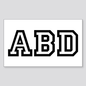 ABD Rectangle Sticker