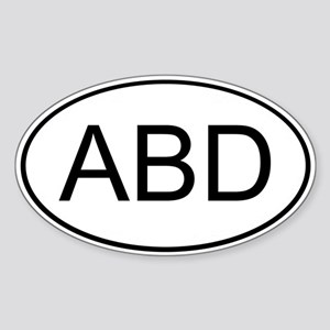 ABD Oval Sticker
