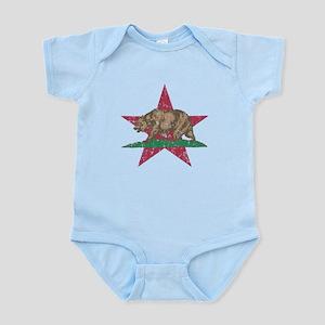 California Flag Star and Bear Body Suit