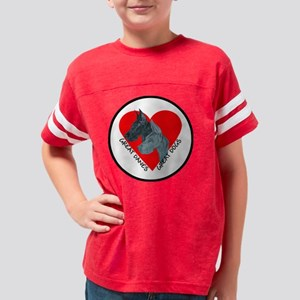 Great Dane Valentine Youth Football Shirt