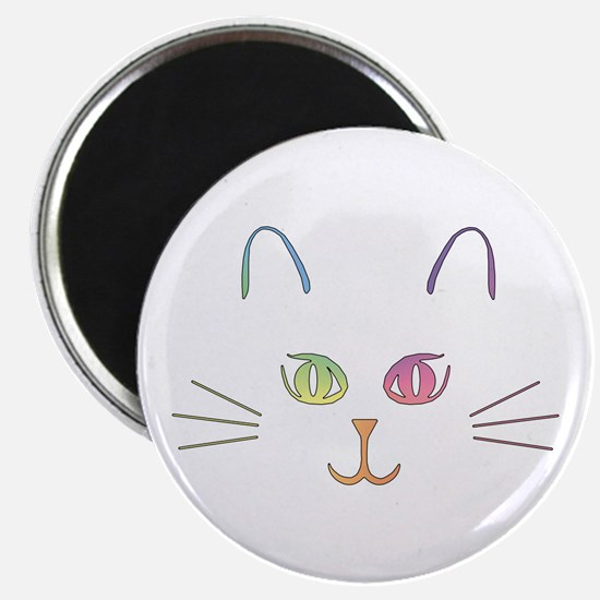 "Rainbow Kitty 2.25"" Magnet (10 pack)"