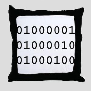Binary ABD Throw Pillow