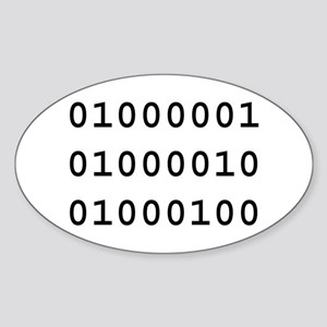 Binary ABD Oval Sticker