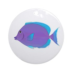 Blue tang Surgeonfish Ornament (Round)