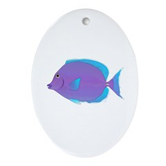 Blue tang Surgeonfish Ornament (Oval)
