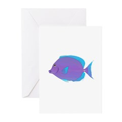 Blue tang Surgeonfish Greeting Cards