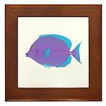 Blue tang Surgeonfish Framed Tile