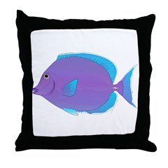 Blue tang Surgeonfish Throw Pillow