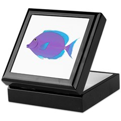 Blue tang Surgeonfish Keepsake Box