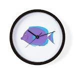 Blue tang Surgeonfish Wall Clock