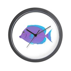Blue tang Surgeonfish Wall Clock