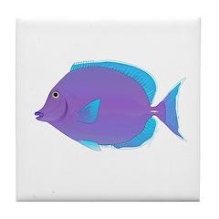 Blue tang Surgeonfish Tile Coaster