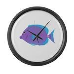 Blue tang Surgeonfish Large Wall Clock