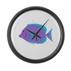 Blue tang Surgeonfish Large Wall Clock