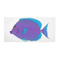 Blue tang Surgeonfish Beach Towel