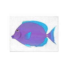 Blue tang Surgeonfish 5'x7'Area Rug