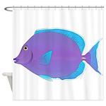 Blue tang Surgeonfish Shower Curtain