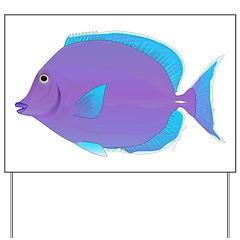 Blue tang Surgeonfish Yard Sign