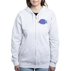 Blue Tang Surgeonfish c Zip Hoodie