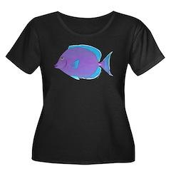 Blue Tang Surgeonfish c Plus Size T-Shirt