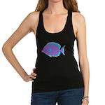 Blue Tang Surgeonfish c Racerback Tank Top