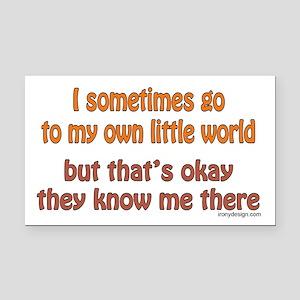 My Own Little World Rectangle Car Magnet
