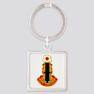 DUI - 75th Fires Brigade Square Keychain