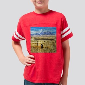 field of cattle Youth Football Shirt