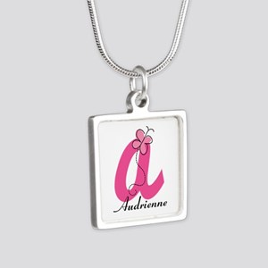 Personalized Monogram Letter A Butterfly Necklaces