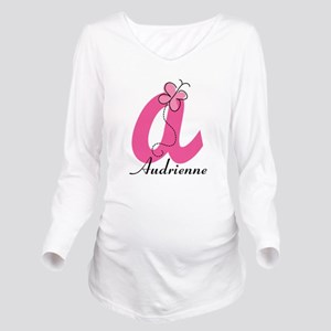 Personalized Monogram Letter A Butterfly Long Slee