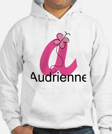 Personalized Monogram Letter A Butterfly Hoodie