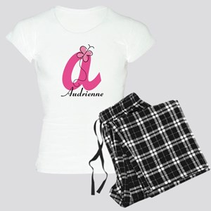Personalized Monogram Letter A Butterfly Pajamas