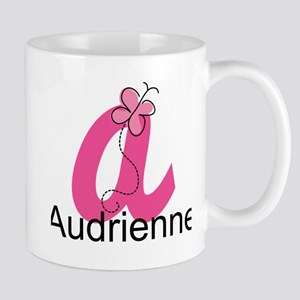 Personalized Monogram Letter A Butterfly Mugs